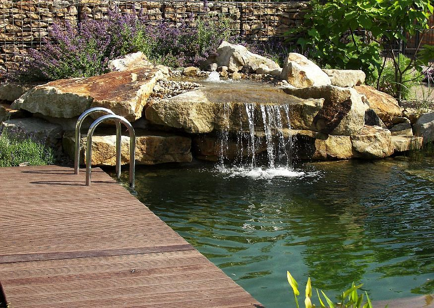 Garden pools and swimming ponds design construction and for Garden pond design and construction