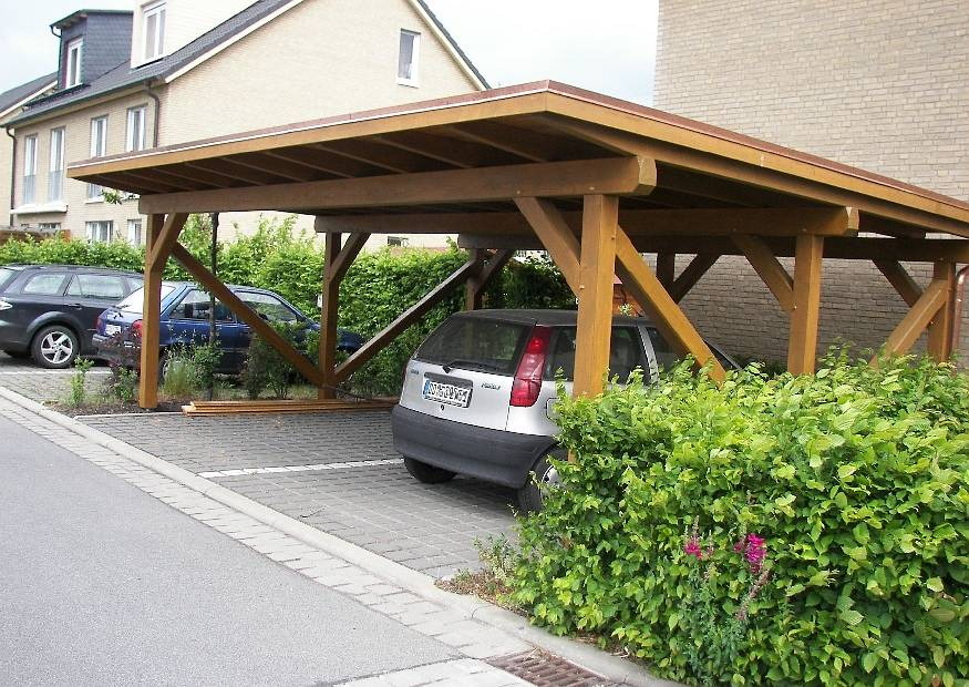 carport am haus doppelter carport. Black Bedroom Furniture Sets. Home Design Ideas