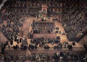 Francisco Ricci 1683 Autodafe Plaza Mayor in Madrid Heilige Inquisition in Spanien