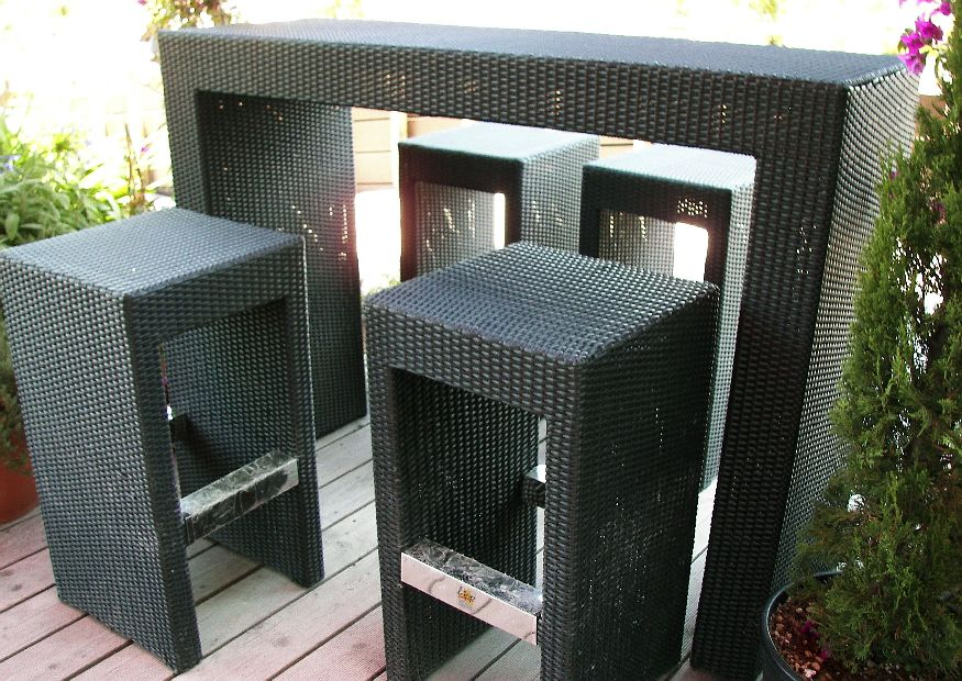 gartenm bel barhocker aus poyrattan outdoorm bel. Black Bedroom Furniture Sets. Home Design Ideas