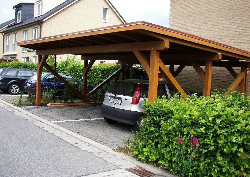 carport doppelcarport aus holz so einen carport aus holz. Black Bedroom Furniture Sets. Home Design Ideas